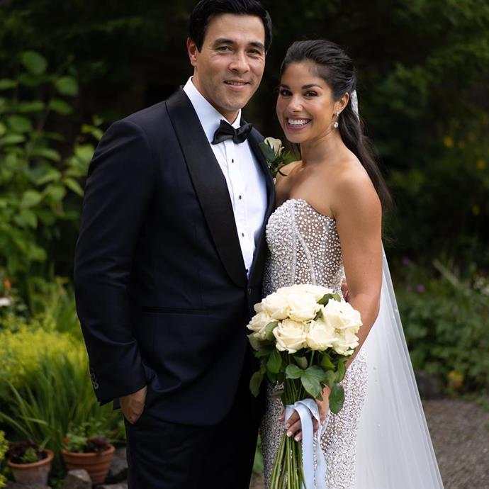"""The couple celebrated their first wedding anniversary on July 23 - and James uploaded three gorgeous snaps from their special day, alongside a heartfelt message.  <br><br> """"Happy Anniversary my love! A year has flown by... and I'm still the luckiest man on earth!! ❤️✨"""""""