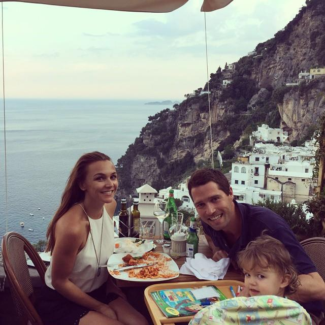 Natalie, Jack and Olivia pictured during a family holiday to Italy together.