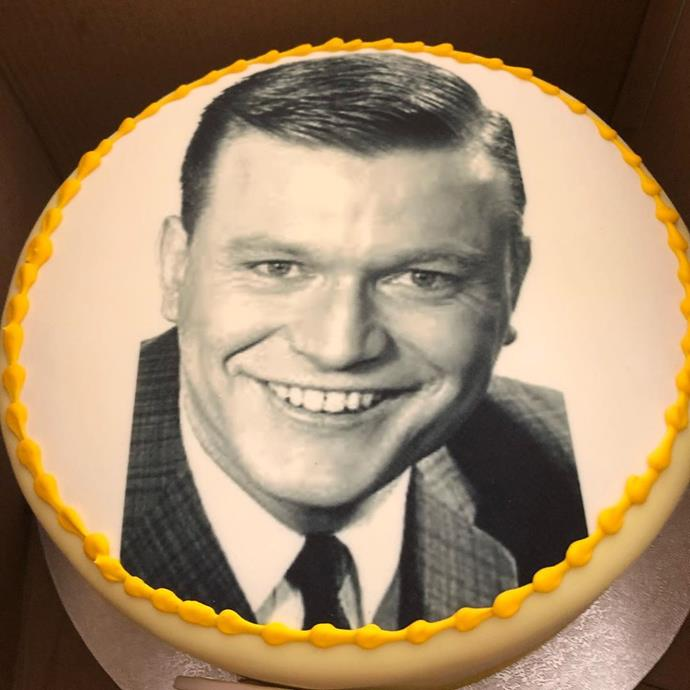 This throwback photo of Bert was emblazoned on the cake.