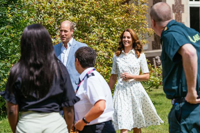 Duchess Catherine and Prince William joined several frontline workers as they announced a $3 million funding boost for mental health support in their sector.