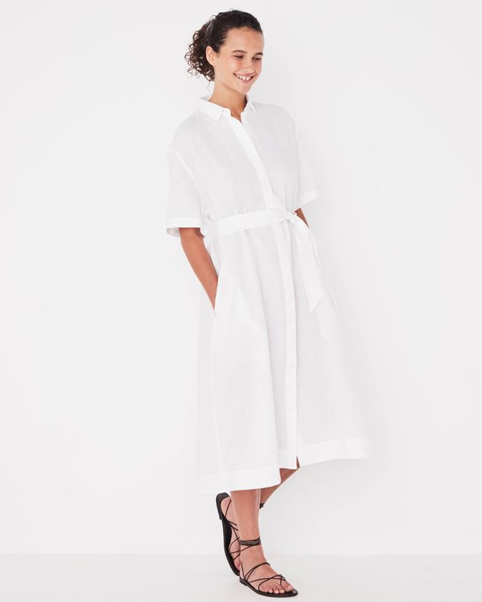 """Assembly Label Mae Dress, $70. [Buy it online here](https://assemblylabel.com/products/mae-dress-white