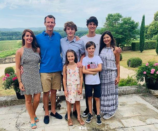 Prince Joachim and his family were pictured together only days ago as they enjoyed a family holiday.