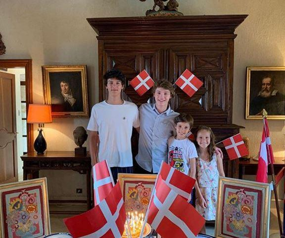 The family celebrated Felix's 18th birthday together.