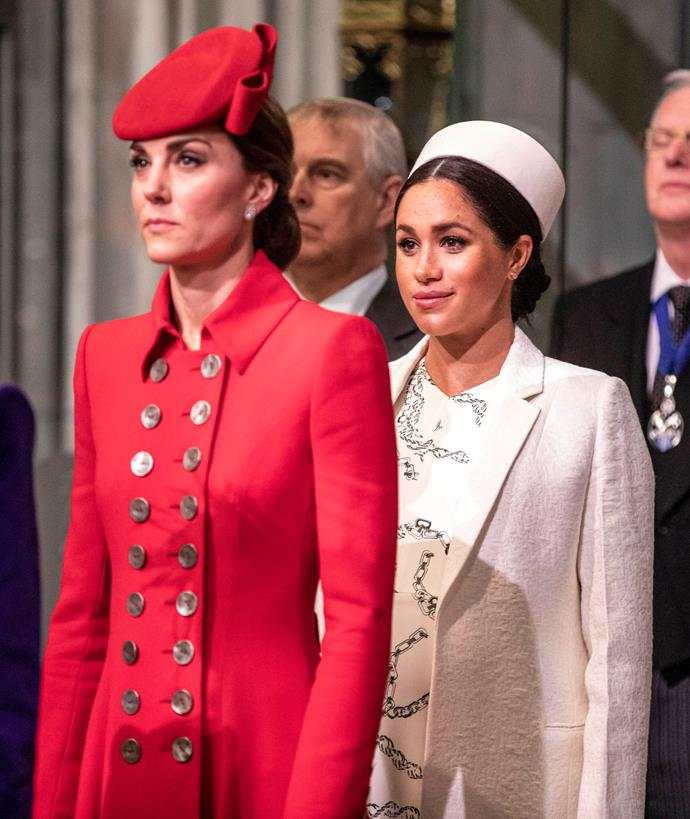 Despite frequent rumours, the 'feud' between Kate and Meghan wasn't want it seemed.