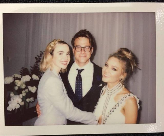 Tim shared this snap with his two on-screen loves, Sam and Ashleigh.