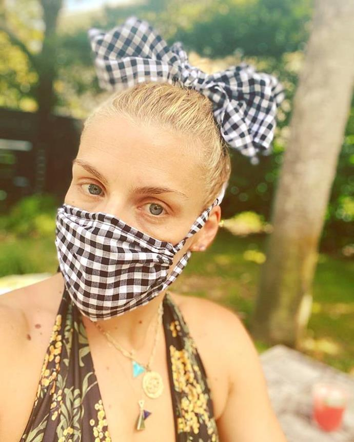 Another day, another gingham face mask! Busy Philipps proved masks *and* fashion goes hand in hand.