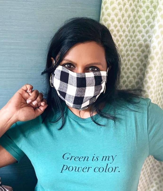 Mindy Kaling has her own twist on the gingham craze.