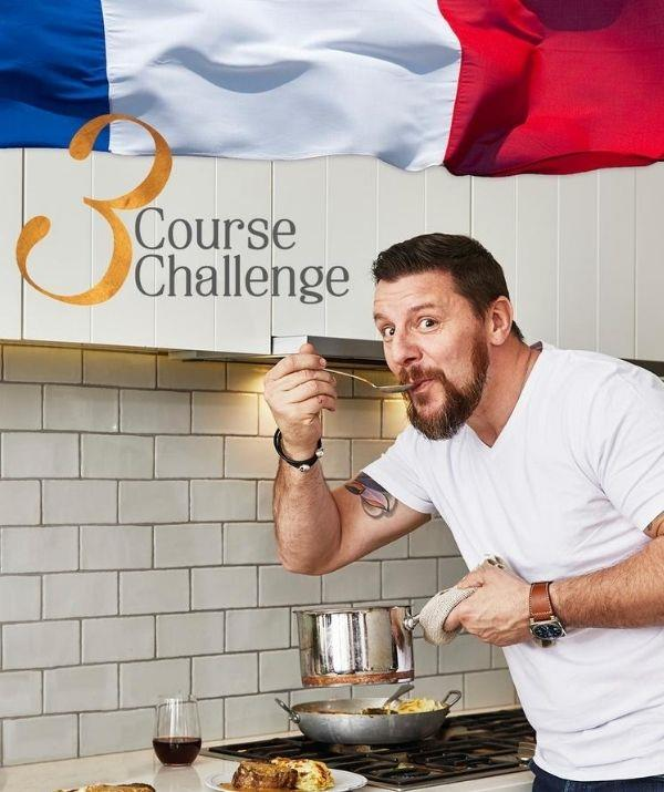 You can sign up to the 3 Course Challenge and help Manu raise money for breast cancer awareness