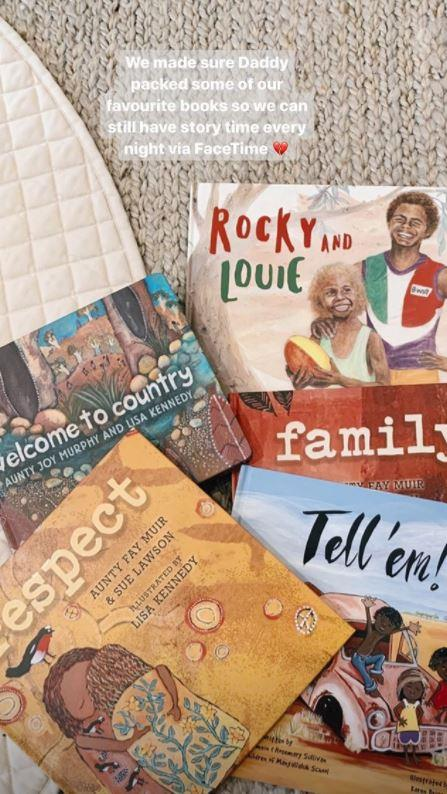Jesinta shared some of the books Buddy will read to their daughter, Tallulah Franklin.