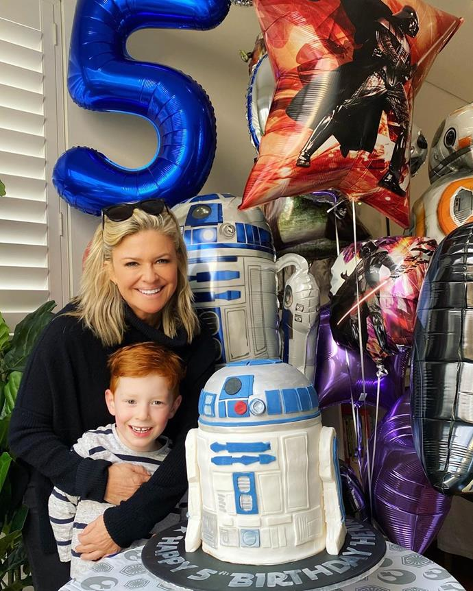 """In August, Emily celebrated Henry's fifth birthday. """"Happy fifth birthday to my beautiful boy! Such a lovely day yesterday celebrating with our loved ones 💙🎈,"""" Emily wrote on Instagram, alongside this adorable photo of herself and Henry at his birthday party on the weekend.  <br><br> Several of Emily's *Home And Away* co-stars took to the comments section to also wish Henry a happy birthday, including Sam Frost and Lynne McGranger.  <br><br> """"Awww Happy Birthday Henry!!! ❤,"""" Sam wrote, while Lynne commented, """"Verified Happy birthday Hennie. What a beautiful big boy you are 💙🙌🏼😘🎉🎂😍."""""""
