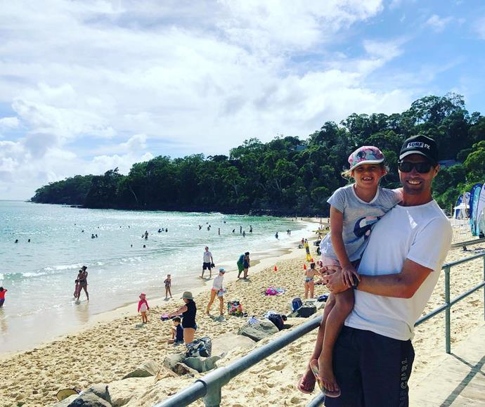 Enjoying a beach day out in Sydney's Double Bay.