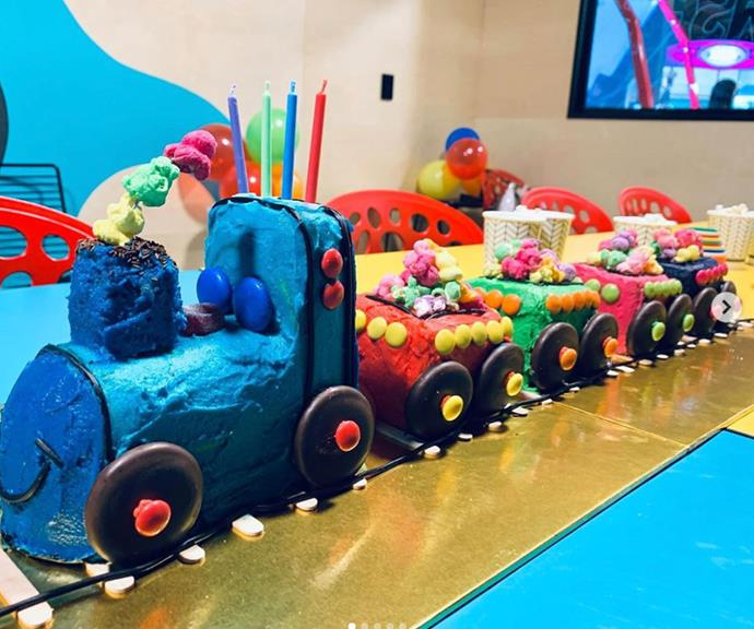 "Last year, [Wiggles back-up dancer Dana Stephenson](https://www.nowtolove.com.au/celebrity/celeb-news/lachy-wiggle-girlfriend-dana-stephensen-63260|target=""_blank"") teamed up with her mum to make *The Weekly*'s choo choo train cake for her son Jasper. <br><br> ""Choo-Choo-Chooooooooo! 🚂One of our best yet! Mum @glenva.stephensen you are a legend and I couldn't have done this (or anything else!) without you ❤️ #womensweeklybirthdaycakebook #womensweeklybirthdaycake #thetraditioncontinues #choochoo,"" Dana shared at the time."