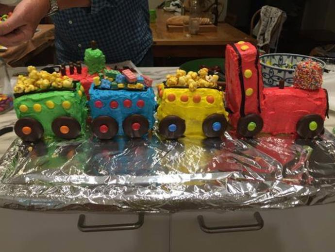 "In 2018, ABC journalist and broadcaster Virginia Trioli revealed she'd made *The Weekly*'s classic [choo-choo train birthday cake](https://www.womensweeklyfood.com.au/recipes/choo-choo-train-birthday-cake-26787|target=""_blank"") for her son Addison.  <br><br> ""I was Mother of the Year for a full week. My proudest moment,"" the former *News Breakfast* star quipped."