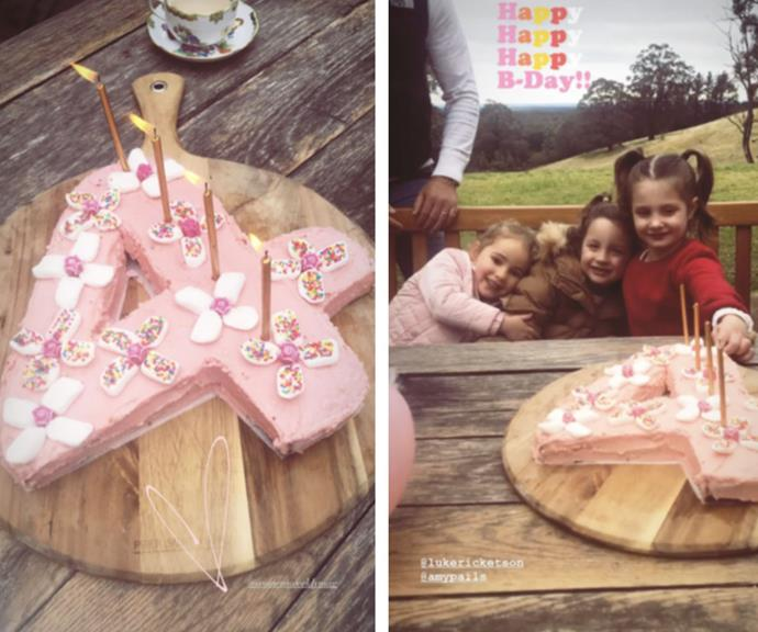 "Racing royalty and presenter Kate Waterhouse treated her daughter Grace to a [pastel pink number four](https://www.womensweeklyfood.com.au/recipes/number-4-4082|target=""_blank"") for her birthday over the weekend."