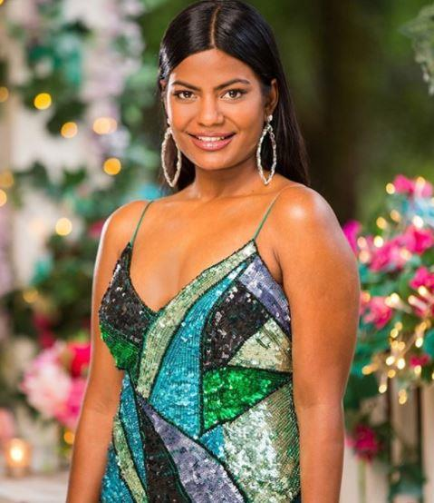 "Arbeeba [didn't need a dress to stand out](https://www.nowtolove.com.au/reality-tv/the-bachelor-australia/bachelor-australia-2020-areeba-emmanuel-64920|target=""_blank""), but she wore a good one anyway. This sequined design was as bright and brave as her actions on the show."