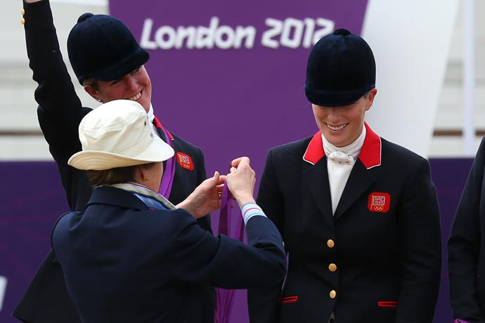 Anne's daughter Zara is also a very talented equestrian. Just like her mother, Zara competed for Britain at the London 2012 Olympics, earning a silver medal that was presented to her by her own mother, no less.