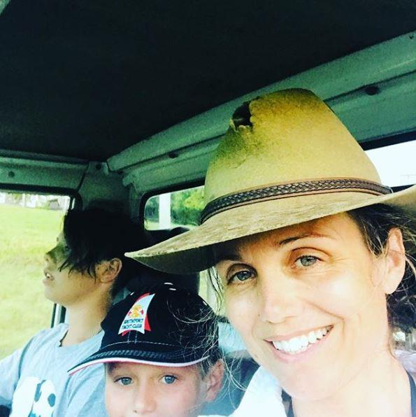 Bridie knows her way around country life, on and off-screen. She captured this sweet snap as she and her sons went for a little family drive.