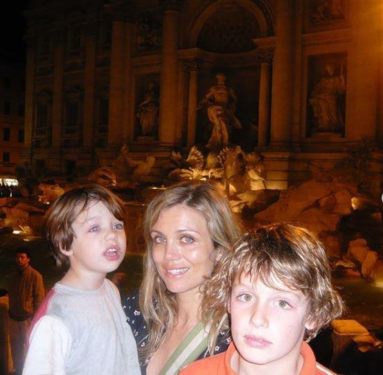 Bridie shared a sweet snap from a trip she made to Italy a few years back - in the image she holds her son Otis, aged three-and-a-half at the time, alongside her stepson James.