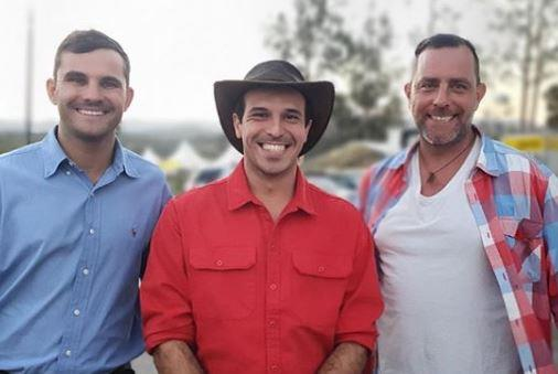 Farmer Sam (centre) has given fans an update on where he's at post-filming.