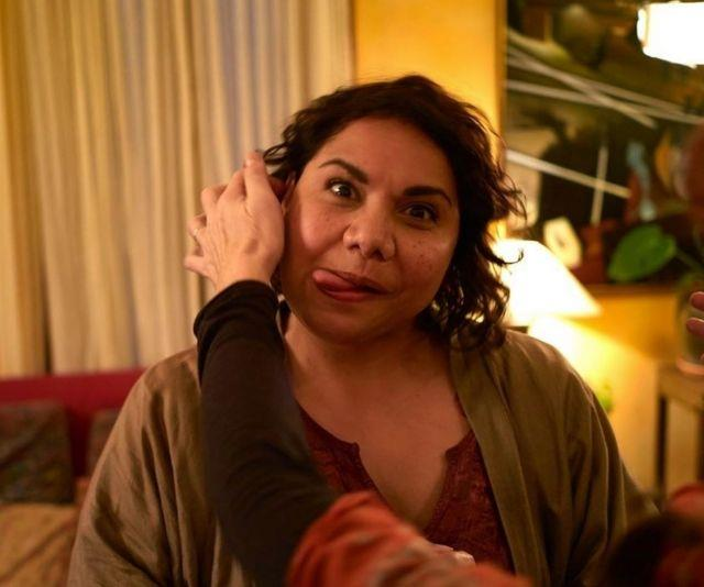 Did we miss the funny face memo between Asher and Deborah Mailman?