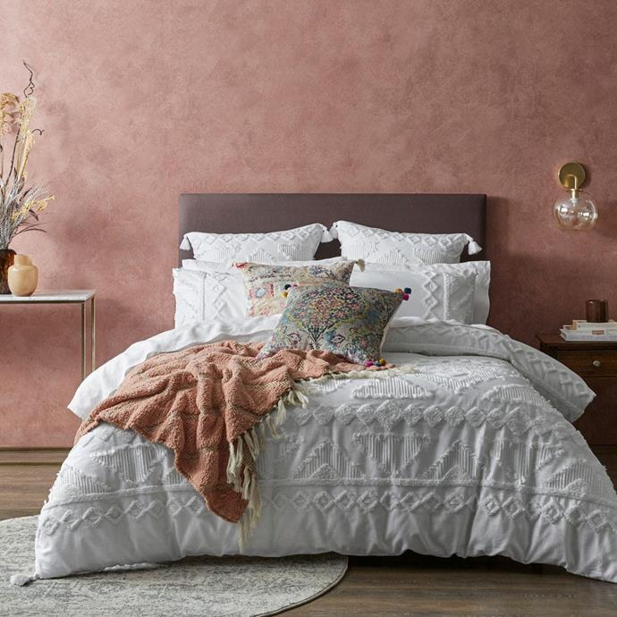 """Bed Bath n Table's shabby chic [corina quilt cover](https://www.bedbathntable.com.au/corina-white-010803