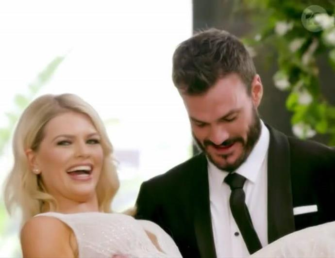 "**Kaitlyn, 26** <br><br> Coming in [as an intruder](https://www.nowtolove.com.au/reality-tv/the-bachelor-australia/the-bachelor-australia-kaitlyn-hoppe-64935|target=""_blank"") on the second episode, Kaitlyn quickly proved a big threat to the other women vying for Locky's heart. Wearing a stunning bridal gown and with instant chemistry in front of the camera with the *Bachie*, we're pulling out the popcorn to witness how this love story goes down."