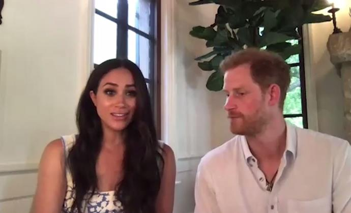 Meghan was there to assure Harry that he's really not *that* old...