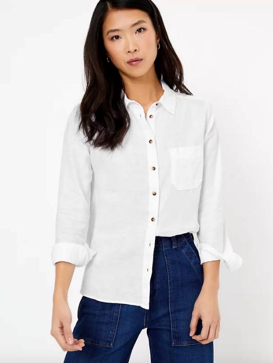 "Marks & Spencer Pure Linen Button Detail Long Sleeve Shirt, $59. [Buy it online here](https://www.marksandspencer.com/au/pure-linen-button-detail-long-sleeve-shirt/p/P60374775.html|target=""_blank""|rel=""nofollow"")."