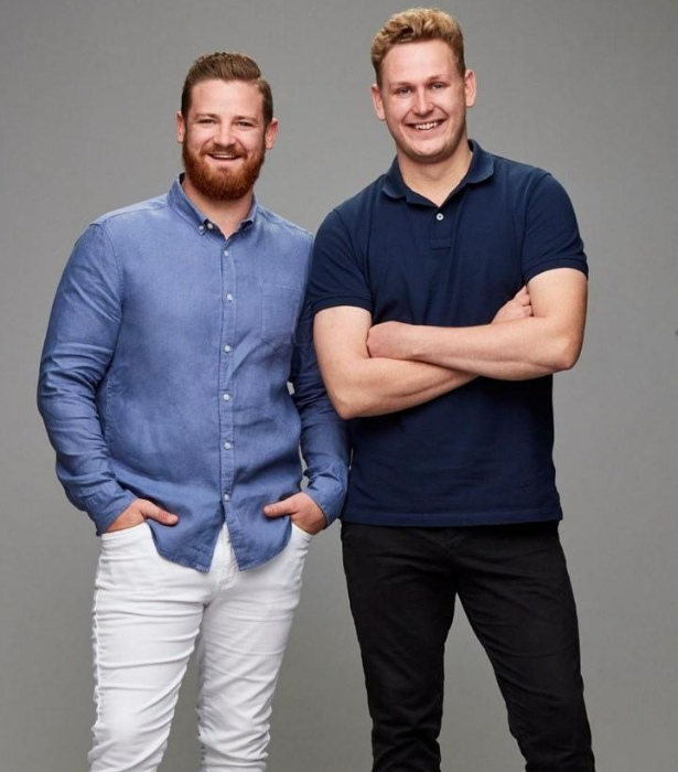 """**TEAM AUSTRALIA: ETHAN & STEW** <br><br> Mates Ethan and Stew (both 28) struck up a strong friendship in Year 10 maths class and both have a strong passion for food. <br><br> """"We are just two regular guys who like to cook and now we are getting to show the world what modern Australian cuisine is."""" Stew says."""