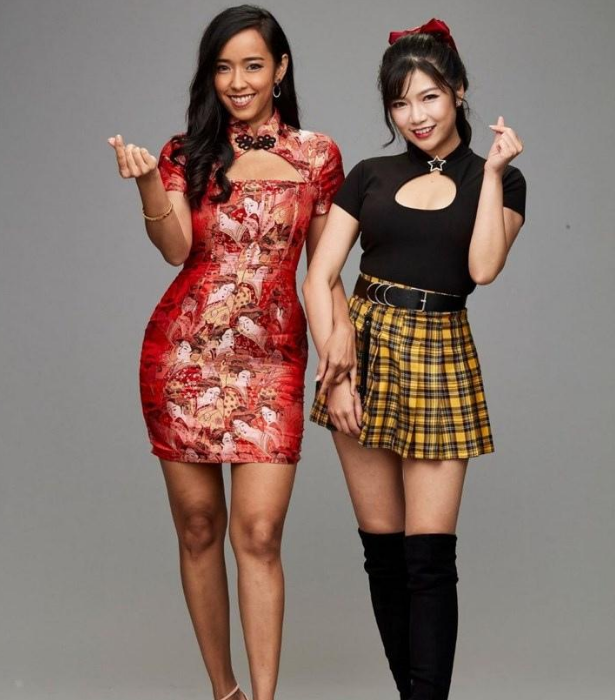 """**TEAM CHINA: MANDY & CHRYS** <br><br> Team China's Mandy,28 and Chrys, 30, having both been cooking since they were teenagers and became friends after meeting at a dinner party. <br><br> """"We want showcase how diverse authentic Chinese food can be, compared to takeaway Chinese foods,"""" Chrys says."""