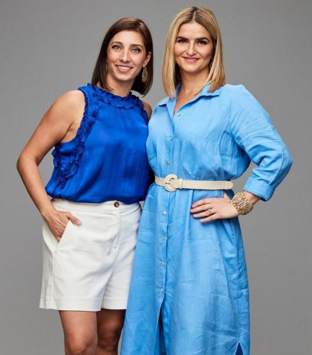 """**TEAM GREECE: DEZI & PENNY** <br><br> Dezi, 41, and Penny, 33, are cousins and Greek food has always had the upmost importance in their family. <br><br> """"Greek food is plentiful, tasty and from the heart. We want to cook like we are cooking for our family,"""" says Dezi."""
