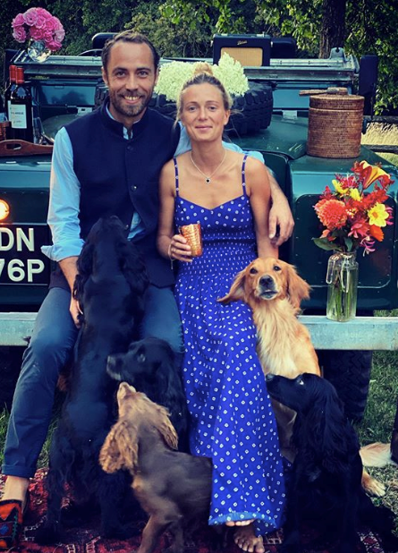 James and Alizee had a wholesome date night with James' pups.