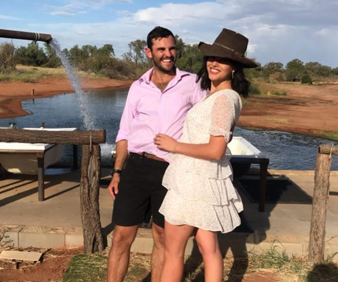 Alex shared this loved up new snap with Henrietta on his farm, confirming they're still together.