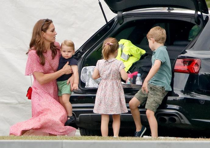Kate visited a local Sainsbury's near the family's country home, Anmer Hall.
