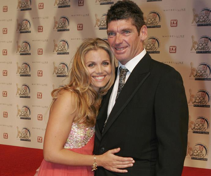 Red carpet royalty: The happy couple cuddle up at the 2006 TV WEEK Logie Awards at the Crown Casino in Melbourne.