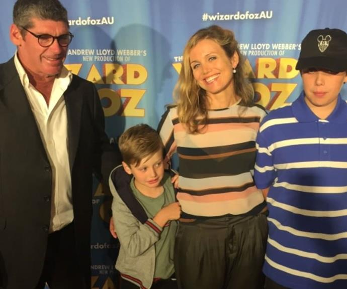 Gang's all here! Michael and Bridie hit the red carpet premiere of the *Wizard Of Oz* with their sons Tobias and Otis in 2017.