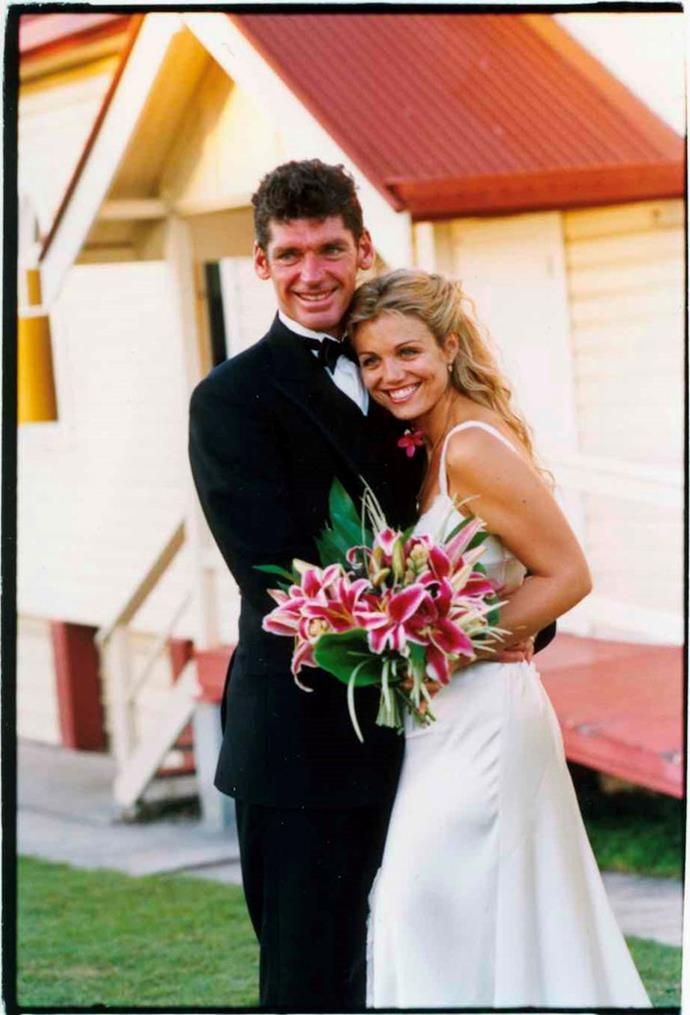 Back to the very beginning! A beaming Bridie and Michael on their wedding day in 2004.