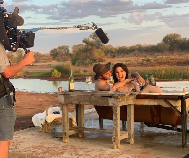 Alex and Henrietta had one of the show's most romantic dates, sipping wine in an outdoor bath at sunset - talk about steamy!