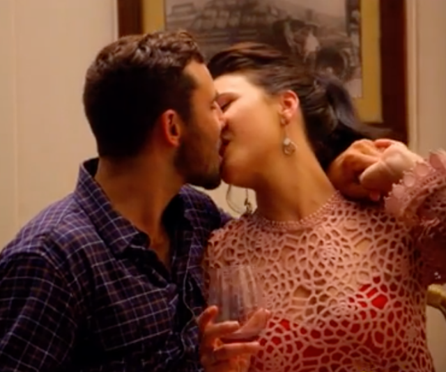 The couples first kiss was not one to be missed - and it left quite the impression!