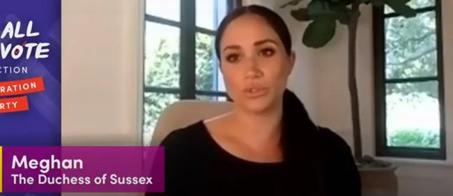 Meghan filmed the campaign video from her new home in Santa Barbara.