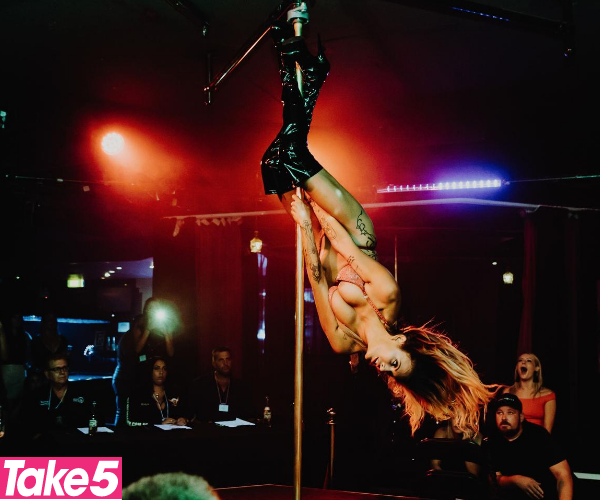 Being a stripper made me feel confident.  *(Image: Supplied)*