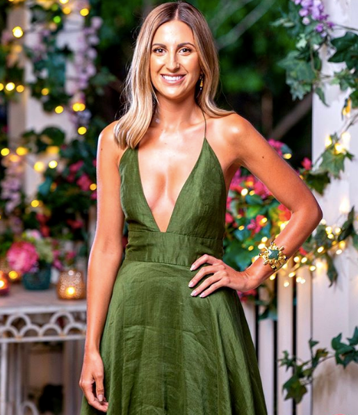 Irena was a standout once again in episode seven with this heavenly plunge-neck creation in emerald green. Honestly, we're not surprised people can't stop talking about her.