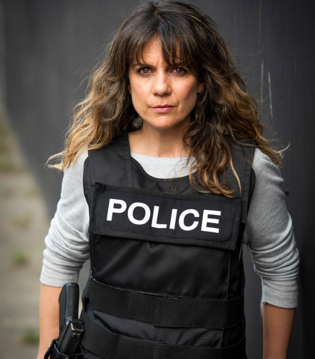 Michala plays a cop on the new series.