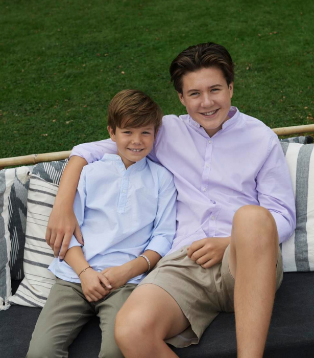 The young Princes enjoying time outdoors.