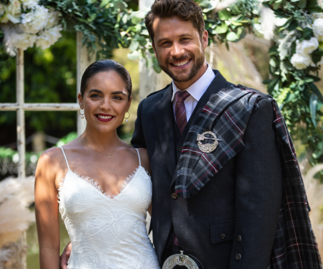 Paige returned to Ramsay Street to marry love of her life, Mark (Scott McGregor).