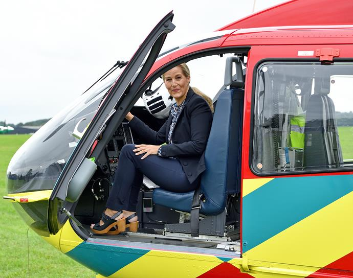 Sophie's visit to the air ambulance service was all the more poignant given her personal involvement with them after suffering an ectopic pregnancy back in 2001.