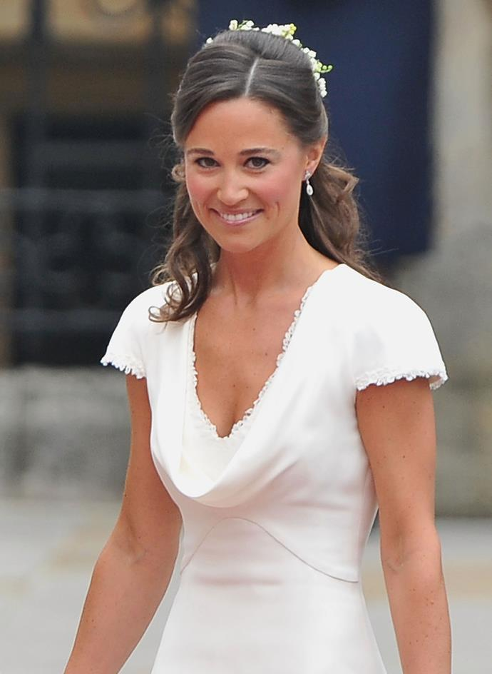 Let's start with where it all began - Pippa's iconic bridesmaid dress at sister Kate Middleton's 2011 wedding to Prince William. Designed by Sarah Burton for Alexander McQueen, Pippa pulled off the chic, short-sleeved style flawlessly. A sign of many good things to come.