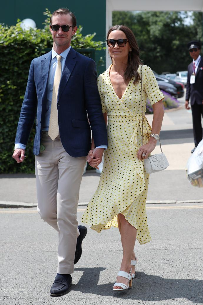 She also topped off her Wimbledon appearances for the year in this gorgeous bright yellow dress - and thus, it was decided: Pippa Middleton *is* the queen of regal summer dresses.