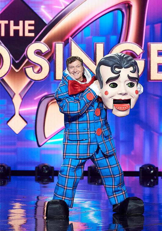 **Puppet:** The strings came off for the Puppet, who ended up being Red Wiggle Simon Pryce, 48.