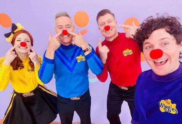 Simon is usually on stage performing as 1/4 of The Wiggles.